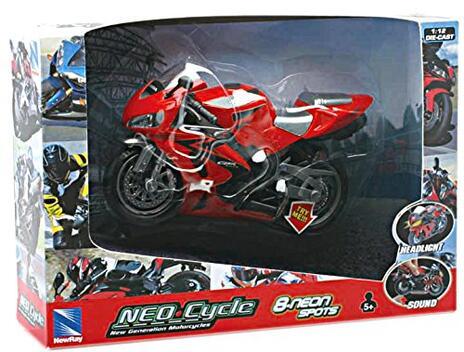 1:12 Motorcycle B/O Light & Sound 01993I