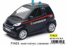 New Ray Auto Smart Fortwo Carabinieri 1:24-New-71423. 71423