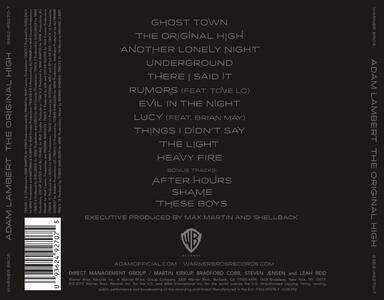 Original High (Deluxe) - CD Audio di Adam Lambert - 2
