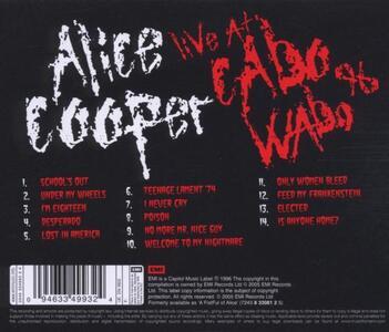Live at Cabo Wabo 1996 - CD Audio di Alice Cooper - 2