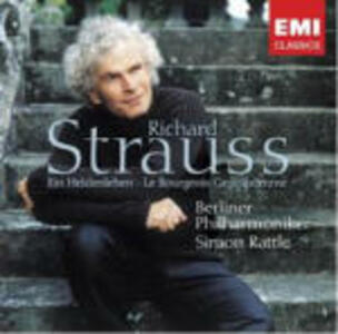 Vita d'eroe (Ein Heldenleben) - Il borghese gentiluomo (Le Bourgeois Gentilhomme) - CD Audio di Richard Strauss,Berliner Philharmoniker,Simon Rattle