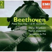 Trii con pianoforte op..1, op.97 - CD Audio di Ludwig van Beethoven,Jacqueline du Pré,Pinchas Zukerman,Daniel Barenboim