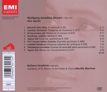 Airs Sacres - CD Audio di Wolfgang Amadeus Mozart - 2