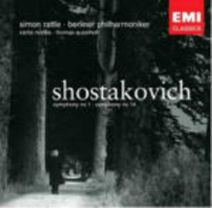Sinfonie n.1, n.14 - CD Audio di Dmitri Shostakovich,Berliner Philharmoniker,Simon Rattle