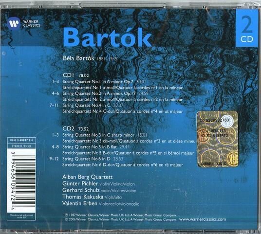Quartetti per archi - CD Audio di Bela Bartok,Alban Berg Quartett - 2