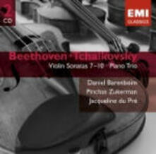 Sonate per violino n.7,, n.8, n.9, n.10 / Trio con pianoforte - CD Audio di Ludwig van Beethoven,Pyotr Ilyich Tchaikovsky,Jacqueline du Pré,Pinchas Zukerman,Daniel Barenboim