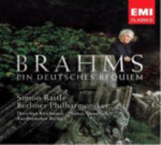 Un Requiem tedesco (Ein Deutsches Requiem) - CD Audio di Johannes Brahms,Thomas Quasthoff,Dorothea Röschmann,Berliner Philharmoniker,Simon Rattle