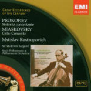 Sinfonia concertante / Concerto per violoncello - CD Audio di Sergej Sergeevic Prokofiev,Nikolai Yakovlevich Myaskovsky,Mstislav Rostropovich,Malcolm Sargent