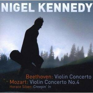 Concerto per violino / Concerto per violino n.4 - CD Audio di Ludwig van Beethoven,Wolfgang Amadeus Mozart,Nigel Kennedy,Polish Chamber Orchestra