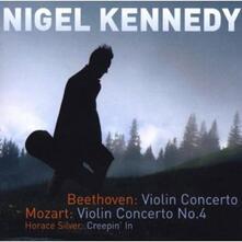 Concerto per violino / Concerto per violino n.4 - CD Audio di Ludwig van Beethoven,Wolfgang Amadeus Mozart,Nigel Kennedy,Polish Chamber Orchestra