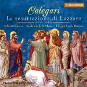 La resurrezione di Lazzaro - CD Audio di Antonio Calegari