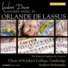 Laudent Deum. Musica sacra - CD Audio di Orlando Di Lasso,His Majestys Sagbutts and Cornetts