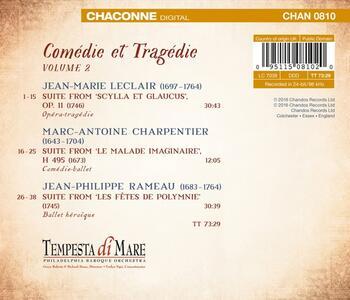 Comédie et tragédie vol.2 - CD Audio di Jean-Philippe Rameau,Marc-Antoine Charpentier,Jean-Marie Leclair - 2