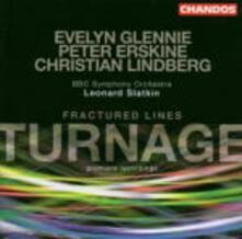 Fractured Lines - CD Audio di Peter Erskine,Evelyn Glennie,Leonard Slatkin,Marc-Anthony Turnage,BBC Symphony Orchestra,Christian Lindberg