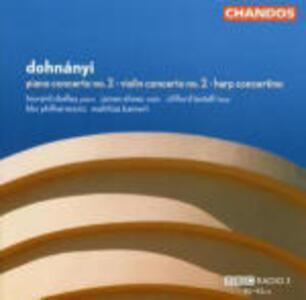 Concerto per pianoforte n.2 - Concerto per violino n.2 - Concerto per arpa - CD Audio di Erno Dohnanyi