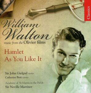 Hamlet - As You Like It - CD Audio di Neville Marriner,William Walton,Catherine Bott,Academy of St. Martin in the Fields