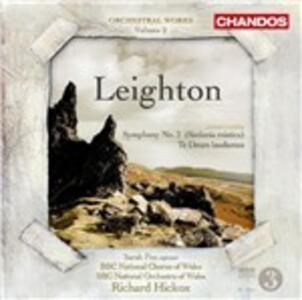 Sinfonia n.2 - Te Deum Laudamus - CD Audio di Richard Hickox,Kenneth Leighton,BBC National Orchestra of Wales
