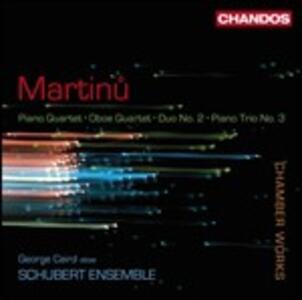 Musica da camera - CD Audio di Bohuslav Martinu,Schubert Ensemble