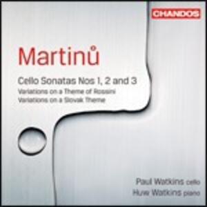 Sonate per violoncello n.1, n.2, n.3 - CD Audio di Bohuslav Martinu,Paul Watkins