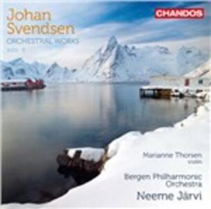 Opere orchestrali vol.3 - CD Audio di Neeme Järvi,Johan Severin Svendsen,Bergen Philharmonic Orchestra