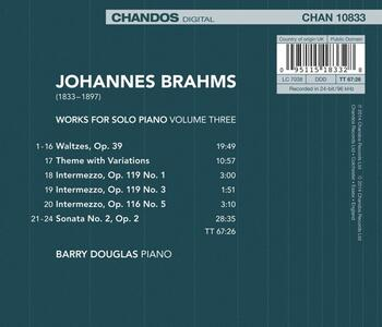 Opere per pianoforte vol.3 - CD Audio di Johannes Brahms - 2