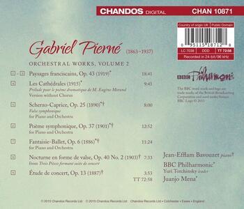 Integrale delle opere orchestrali vol.2 - CD Audio di BBC Philharmonic Orchestra,Jean-Efflam Bavouzet,Gabriel Pierné,Juanjo Mena - 2
