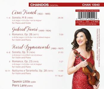 Musica per violino e pianoforte - CD Audio di Tasmin Little,Piers Lane - 2