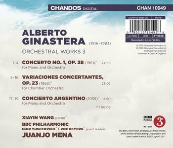 Musica orchestrale vol.3 - CD Audio di Alberto Ginastera,BBC Philharmonic Orchestra,Juanjo Mena - 2