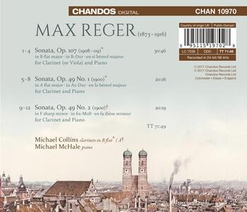 Sonate per Clarinetto - CD Audio di Max Reger - 2