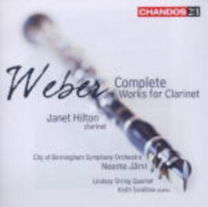 Musica per clarinetto - CD Audio di Carl Maria Von Weber