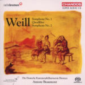 Sinfonie n.1, n.2 - SuperAudio CD ibrido di Kurt Weill