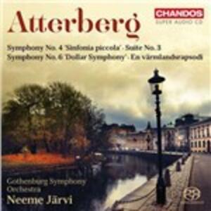 Sinfonie n.4, n.6 - SuperAudio CD ibrido di Neeme Järvi,Kurt Magnus Atterberg