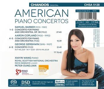 American Piano Concertos - SuperAudio CD ibrido di George Gershwin,Aaron Copland,Samuel Barber,Xiayin Wang - 2