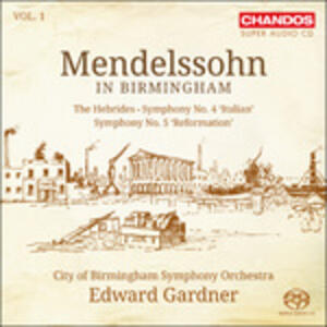 Mendelssohn in Birmingham vol.1 - SuperAudio CD ibrido di Felix Mendelssohn-Bartholdy