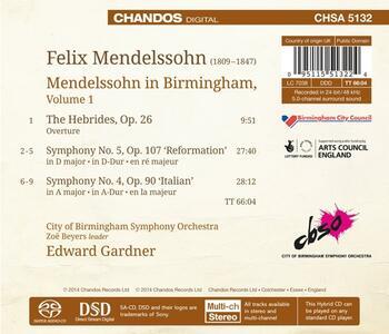 Mendelssohn in Birmingham vol.1 - SuperAudio CD ibrido di Felix Mendelssohn-Bartholdy - 2
