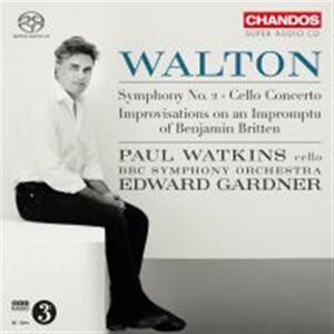 Concerto per violoncello - Sinfonia n.2 - SuperAudio CD ibrido di William Walton