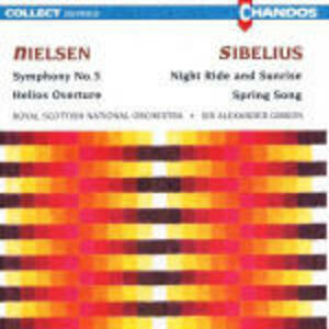 Sinfonia n.5 / Spring Song op.16 - CD Audio di Jean Sibelius,Carl August Nielsen