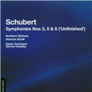 Sinfonie n.3, n.5, n.8 - CD Audio di Franz Schubert