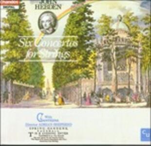 6 Concerti per archi - CD Audio di John Hebden