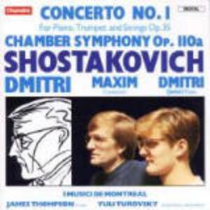 Concerto per violino n.1 - Sinfonia da camera - CD Audio di Dmitri Shostakovich