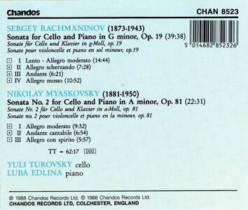 Sonate per violoncello - CD Audio di Sergej Vasilevich Rachmaninov - 2
