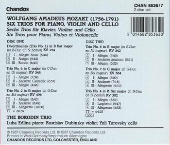 Trii con pianoforte - CD Audio di Wolfgang Amadeus Mozart,Borodin Trio - 2