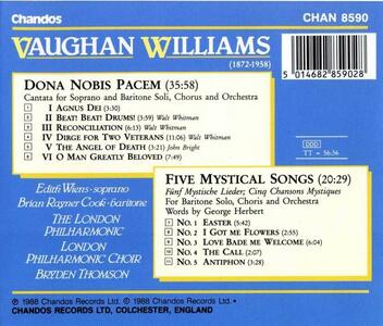 Dona Nobis Pacem - Cinque canzoni mistiche - CD Audio di Ralph Vaughan Williams - 2