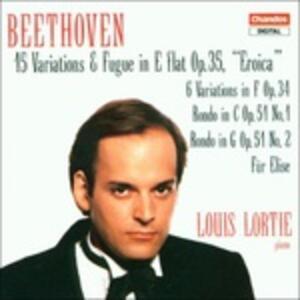 15 variazioni e fughe in Mi bemolle - 6 variazioni in Fa - Rondò n.1, n.2 op.51 - Per Elisa - CD Audio di Ludwig van Beethoven