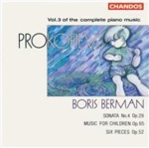 Musica per pianoforte vol.3 - CD Audio di Sergej Sergeevic Prokofiev,Boris Berman