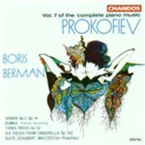 Musica per pianoforte vol.7 - CD Audio di Sergej Sergeevic Prokofiev,Boris Berman