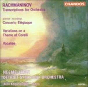 Concerto elegiaco - Tema e variazioni su un tema di Corelli - Vocalise - CD Audio di Sergej Vasilevich Rachmaninov