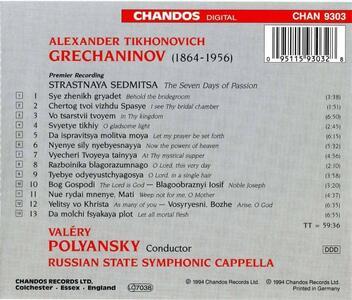 Sette giorni di Passione - CD Audio di Alexander Tikhonovich Grechaninov - 2