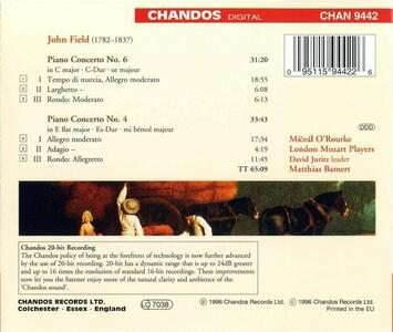 Concerti per pianoforte n.4 , n.6 - CD Audio di John Field - 2