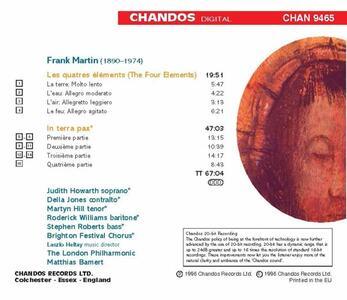 I quattro elementi - In Terra Pax - CD Audio di Frank Martin - 2